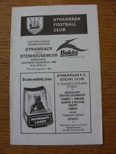 06/03/1982 Stranraer v Stenhousemuir  .  Any faults with this item will have bee