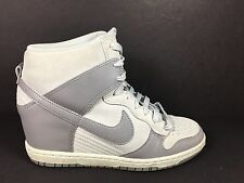 Nike Dunk Sky Hi Womens Size 8 Fashion Shoes Grey Hidden Wedge 528899 005