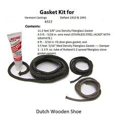 Vermont Castings Gasket Kit Defiant 1910 & 1945  Stove rope 0003422 3422