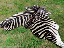 BROWN NEW ZEBRA Print /Printed COWHIDE SKIN Rug steer COW HIDE - DC4965