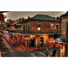EVENING ON BOURBON STREET - NEW ORLEANS POSTER - 24x36 FRENCH QUARTER 10275
