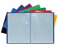 A4 SOFT COVER DISPLAY BOOK 40 POCKETS 80 VIEW ANTI-GLARE PRESENTATION FOLDER NEW