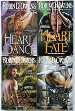4 PBs #6-9 in CELTA Series ROBIN D. OWENS Trade-sized HEART:Dance/Fate/Journey+
