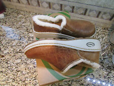 NEW CHACO TAN LEATHER ZAA BAA SHERLING  LOAFER SHOES WOMENS 6 SLIP ONS FREE SP