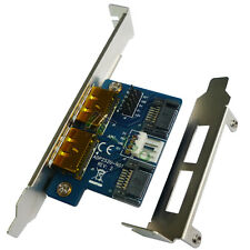 Dual Power over Esata to Dual SATA 22pin adapter with Bracket converter card