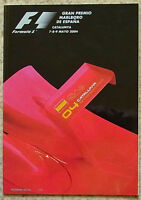 SPANISH GRAND PRIX FORMULA ONE F1 2004 CATALUNYA Official Programme
