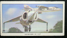 Hawker P1127   Harrier Prototype   Royal Air Force   Illustrated  Card