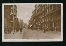 Wales Glamorgan Glam CARDIFF St Mary Street level scene Used 1920s RP PPC