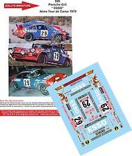 """DÉCALS  1/43 réf 599 Porsche Gr3 """" ESSO"""" COPPIER/ LOLOZ 4éme Tour de Corse 1979"""