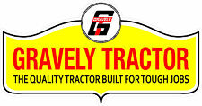 GRAVELY TRACTOR VINYL DECAL STICKER - SET OF 2