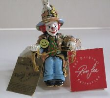 Vintage Ron Lee Clown Figurine, 1986 Hari & Hare #454