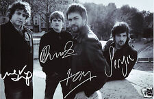 KASABIAN ENTIRE GROUP AUTOGRAPH SIGNED PP PHOTO POSTER