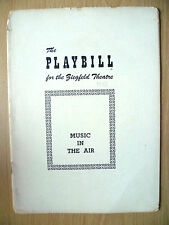 1951 PlayBill Biegfeld Theatre Programme: MUSIC IN THE AIR-Reginald Hammerstein