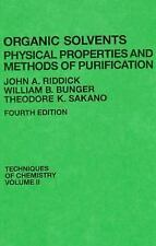 Organic Solvents: Physical Properties and Methods of Purification, 4th-ExLibrary