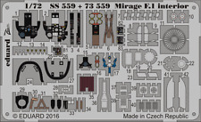 Eduard 1/72 Dassault Mirage F.1CG Interior for Special Hobby # SS559
