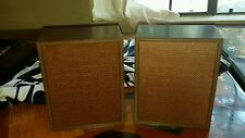 Vintage Bookshelf Speakers 1960's Rincan 3ohm 3 Watt 4.5lbs