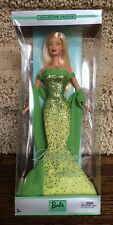 2002 Collector Edition Birthstone Collection August Peridot Blonde Barbie - NRFB