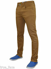 New Mens Enzo Slim Fit Stretch Twill Chinos Straight Leg Trousers Cotton Pants