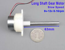 Gearwhell Reducer Long Shaft Gear Motor Slow Speed 16RPM Mini Turbine Worm 6-12V