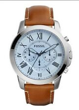Fossil Watch * FS5184 Grant Chrono Blue Face Brown Leather for Men COD PayPal