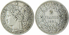 2  FRANCS   ARGENT  CERES  1881  A  PARIS