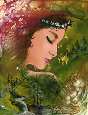 Forest Girl 8X10 Female Print from Artist Sherry Shipley