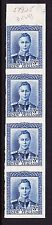 NEW ZEALAND 1938-44 3d BLUE IMPERF PLATE PROOF STRIP SG 609 MNH.