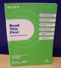Sony Peg-NX70V Peg-NX60 Read This First Manuel Reduced Price