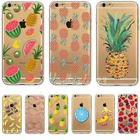 Case Cover For iPhone 4S 5S 6 6S Plus Fruits Transparent Patterns Soft Clear