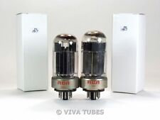 Matched Pair RCA USA 6080 [6AS7GA] Black Plate O Get 3 MICA Vacuum Tubes 75%