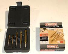 Fräsbohrer-Set 5 teilig 4-4-5-6-8 mm Titanbeschichteter HSS Stahl neu