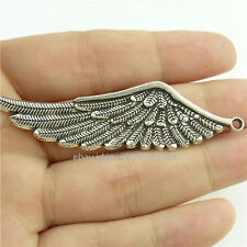 15260*15PCS Silver Vintage Angel Wing Pendant Charm Alloy Antique