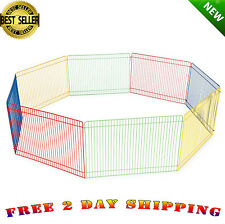 Small Pet Playpen Indoor Animal Cage Outdoor Dog House Puppy Play Yard Crate