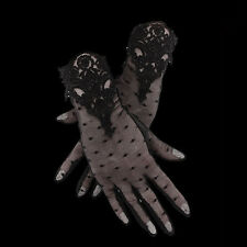 RESTYLE GUIPURE GLOVES. BLACK MESH EVENING GLOVES. VICTORIAN GOTHIC. LOLITA