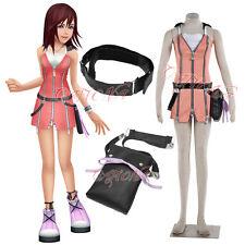 Cafiona Hot Kingdom Hearts Kairi Cosplay Costume Sexy Dress Full Set Custom Made