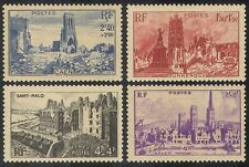 France 1945 WWII/War/Towns/Buildings/Churches 4v n31459