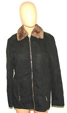PRADA MILANO MADE IN ITALY FUR JACKET ZIPPER SIZE M LEATHER WARM COAT