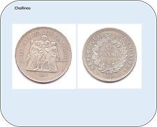 50 FRANCOS DE  PLATA AÑO 1974  FRANCIA   ( MB11394 )