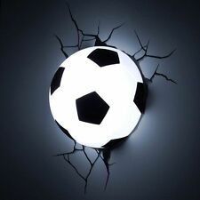 Soccer Ball Nightlight Football Marvel 3D Wall Art Lamp Lighting LED Sports Kids
