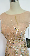 NWT MacDuggal 10011M Nude $538 Prom Formal Ball Gown 4