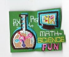 Boy Cub Girl Scouts Embroidered Badge Fun Patch~Math Science Computer STEM Fun