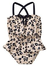 GAP Baby / Toddler Girl 4T / 4 Years Leopard Ruffle One-Piece Bathing Suit