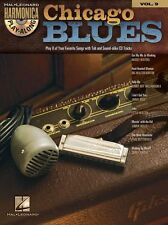 Harmonica Play-Along Chicago Blues Learn Mouth Organ Harp Music Book & CD