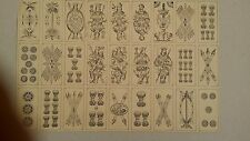 PCUS10 France Camoin Italian Tarot Pattern Uncut Sheet Printer's Proof c1880