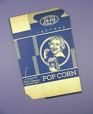 Original c1930's Unused Cretors - Young Girl Design Popcorn Box