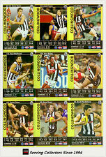 2009 AFL Teamcoach Trading Card Gold Parallel Team Set Collingwood (12)