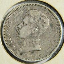 SPAIN, Alfonso XIII: 1903(03) silver Peseta, 3-yr type, 1st yr of issue; VF