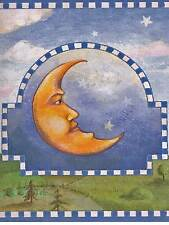 Dreamy Sun - Moon Sign - Hilly Colonial Village - ONLY $8 - Wallpaper Border 609