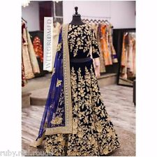 Actual Pics-Stunning Bollywood Indian Very Heavy Bridal PArty Lehenga Lehnga