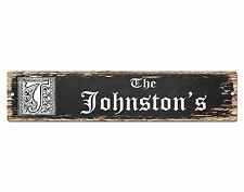 SP0806 The JOHNSTON'S Family name Sign Bar Store Shop Cafe Home Chic Decor